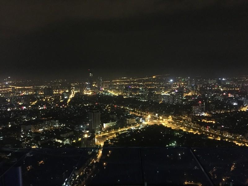 TOP OF HANOIから見える夜景